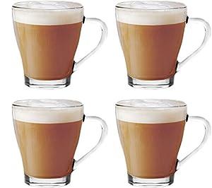 Get Goods Cappuccino Tea Coffee Latte Hot Chocolate Cups Mugs Glasses (Set Of 4)