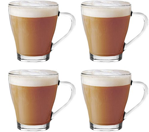 Set-Of-4-Cappuccino-Tea-Coffee-Latte-Hot-Chocolate-Cups-Mugs-Glasses