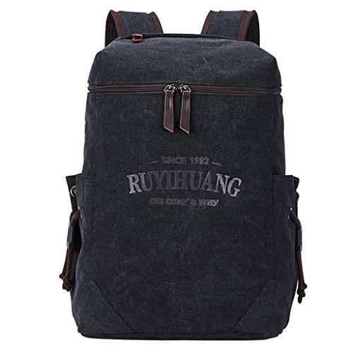 AIni Rucksack Mode Neutral Einfarbig Umhängetasche Rucksack Schüler Schule Reisetasche Schulrucksack Business Wandern Reisen Camping Tagesrucksack