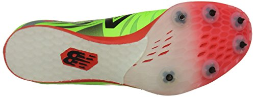New Balance Men's MD800V4 Track Spike Shoe, Lime/Red, 10 D US Lime / Red