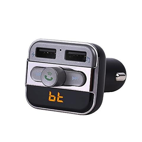 KAKIT KFZ Bluetooth FM Transmitter Auto mit eingebaute Mikrofon, 2