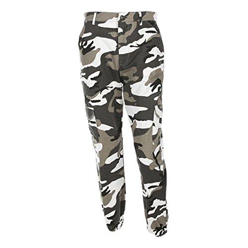 TWIFER Frauen Sport Street Camo Cargo Hosen Damen Outdoor Camouflage Dance Jeans - Cargo-hosen Frauen Camo