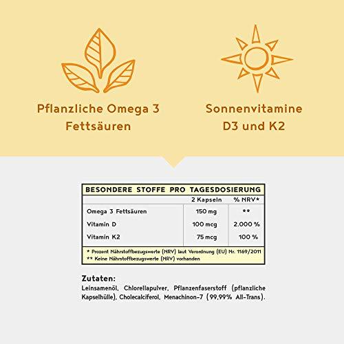 Sonnenvitamine Vitamin D3 + K2 + Omega 3, 80 Kapseln - 3