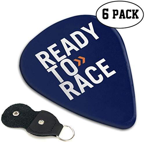 NR Ready-to-Race Guitar Picks (6er Pack) Einzigartiges Geschenk für E-Gitarre, Akustikgitarre, Mandoline und Gitarrenbass