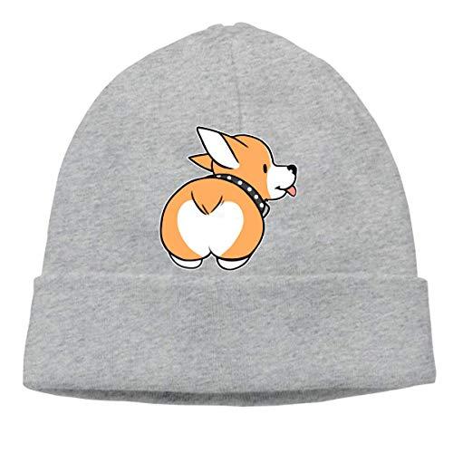 Corgi Butt Warm Stretchy Solid Daily Skull Cap Knit Wool Beanie Hat Outdoor Winter Fashion Warm Beanie Hat