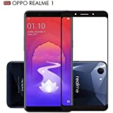 SuperdealsForTheinfinity 5D Premium Edge to Edge Full Glue, No Rainbow, Full Front Body Cover Tempered Full Glass Screen Protector Guard for Oppo Realme 1 - Black