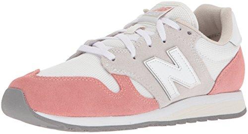 New Balance Damen WL520-TD-B Sneaker, Orange Pfirsich/Weiß, 37.5 EU