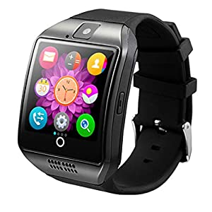 Android Smartwatch, Maegoo Bluetooth Smart Watch with SIM/TF Card Slot, Smartwatch 1.54 Inches with Remote Camera Pedometer Functions for Android Smartphone Samsung Huawei Sony – Black