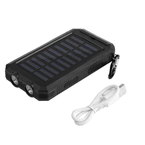 ETC KART Solar Power Bank 30000 mAh Elektrische Lade Externe Batterie Pack wasserdichte Power Smartphone 2 LED Licht Tragbare Outdoor (Led-licht, Externes Batterie-pack)