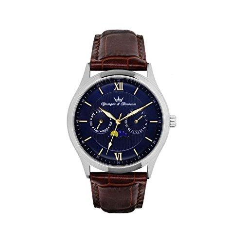 Orologio uomo Yonger & Bresson Blu e Marrone–HCC 047-gu2