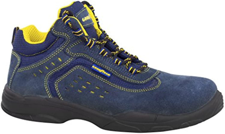 Goodyear G138842C - Botas (piel serraje, talla 36) color azul
