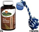 2x 73g Pharmadies Wurm Vital Wellis Wellness Leckerlie für Katzen +1x Gratis Spielball für Katzen. Zur unterstützenden Vorbeugung vor Parasiten- und Wurmbefall.