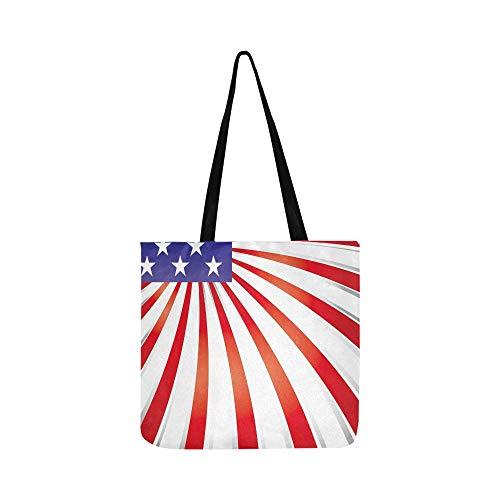 Elements Usa Flag SHAOKAO SHAOKAO Canvas Tote Handtasche Schultertasche Crossbody Taschen Geldbörsen für Männer und Frauen Einkaufstasche