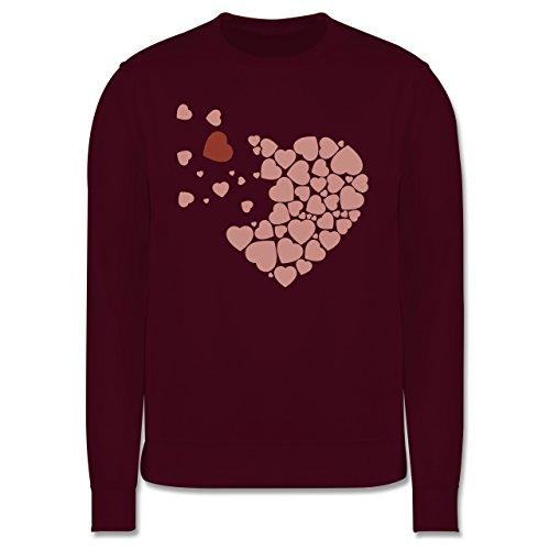 Romantisch - Herz Herzchen - Herren Premium Pullover Burgundrot