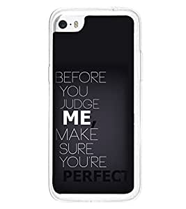 Quote 2D Hard Polycarbonate Designer Back Case Cover for Apple iPhone 5C
