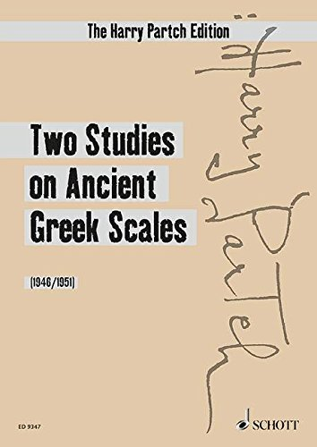 Two Studies on Ancient Greek Scales: Harmonic Canon II and Bass Marimba. Spielpartitur.
