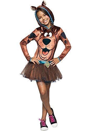 Tutu TV Büchertag Halloween Kostüm Kleid Outfit 3-10 Jahre - Braun, Braun, 8-10 years (Halloween Kostüme Tv)