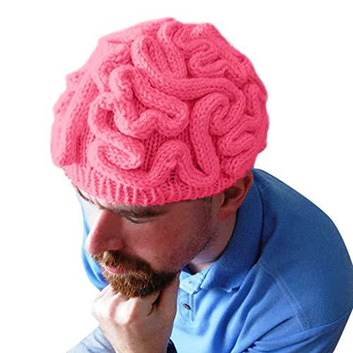 Unisex Hand Gestrickte Persönlichkeit Gehirn Hut Kinder Erwachsene häkeln Beanie Cool Cerebrum Cap Halloween Kostüm Cosplay -