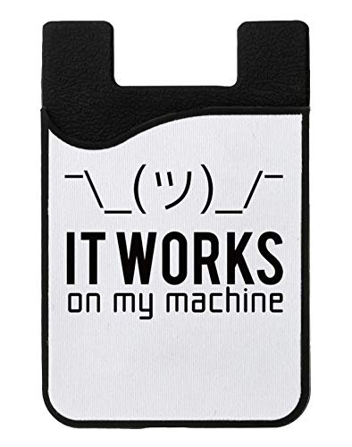 It Works On My Machine Kreditkarteninhaber für Telefon Credit Card Holder Wallet for Smartphone Mobile (Usb-flash-laufwerk Geek)