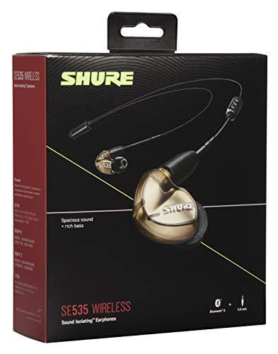 Shure SE535 Bluetooth 5.0 In Ear Kopfhörer mit Sound Isolating Technologie und Mikrofon für iPhone & Android - Premium Kabellos Ohrhörer mit warmem & detailreichem Klang - Bronze - 4