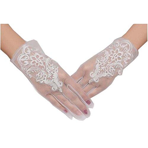 Handgelenk Länge Brauthandschuhe (Spitzen-Handschuhe UV-Schutz Handgelenk Länge Prom Party Driving Hochzeit Handschuhe)