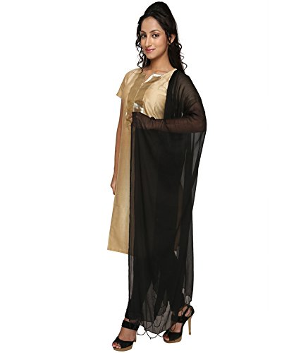 Dupatta in Black from Zoya Collection _ZC01_Cotton_Duppata Black Color _ _Standard Size...