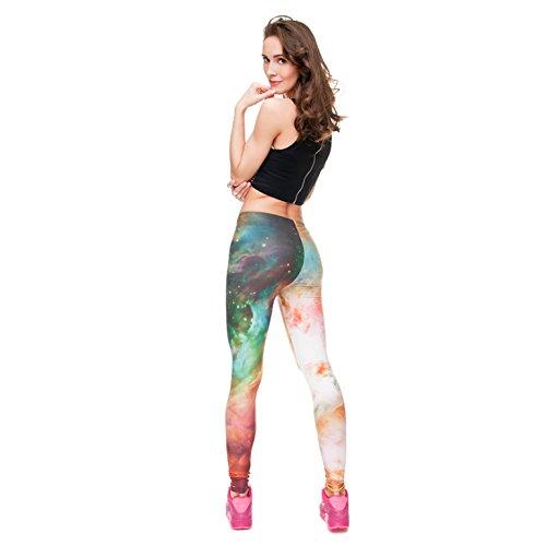 zumprema Damen Galaxy Leggings Mehrfarbig