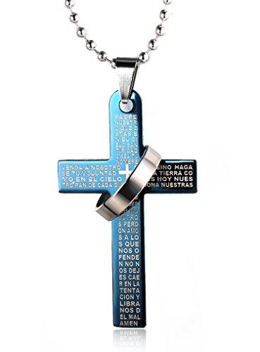 halukakah-herren-titan-stahl-cross-anhanger-halskette-bibel-stil-mit-poliertem-ring-blue-mit-perlenk