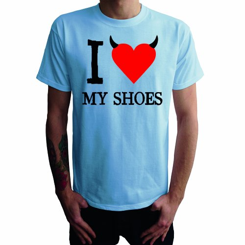 I don't love my Shoes Herren T-Shirt Hellblau