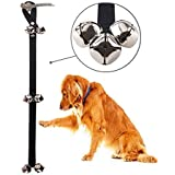 24x7 eMall Dog Doorbells Premium Quality Training Potty Great Dog Bells Adjustable Door Bell Dog Bells for Potty Training Your Puppy The Easy Way - Premium Quality. Small and Large Breeds. (Black)