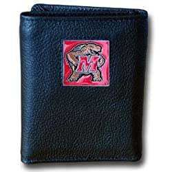 NCAA Maryland Terrapins Leather Tri-Fold Wallet