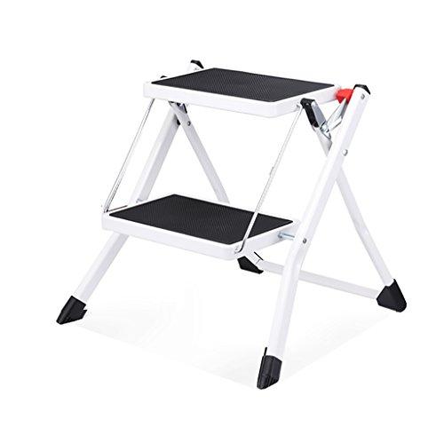 Qiansejiyijiajudengzi Stuhl Klapptritthocker Mini-Leiter Zwei-Stufen-Leiter Tragbare Klappleiter Leitern Edelstahl Eisen Tritthocker Innen Anti-Rutsch-Haushalt (Farbe : 1) (Outdoor Edelstahl Barhocker)