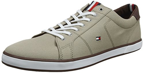Tommy Hilfiger Herren Iconic Long LACE Sneaker, Beige (Cobblestone 068), 43 EU