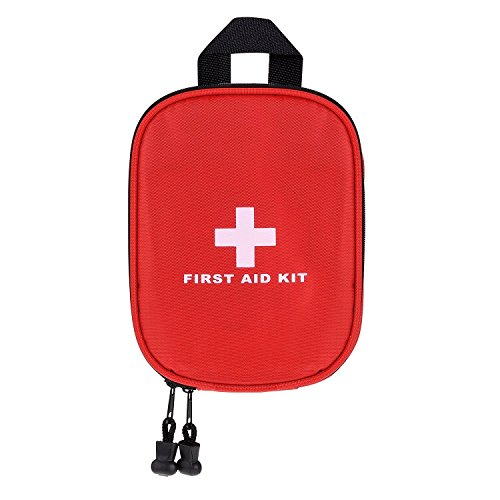 fourHeart First Aid kit, fourHeart Portable Outdoor FDA Certified Medical Emergency Survival Bag for Car,Home,Travel,Office,School,Camping --- Red