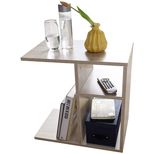 Wohnzimmer-moderne Sofa-tisch (FineBuy Beistelltisch NILO 50x50x30 cm Holz Sonoma Design Anstelltisch Sofa | Couchtisch klein modern | Kleiner Wohnzimmertisch eckig | Sofatisch Ablagetisch hoch | Schmaler Tisch Wohnzimmer)
