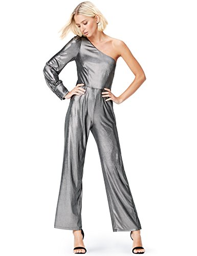 find. Damen Schmale Hüfte Jumpsuit Foiled Rib