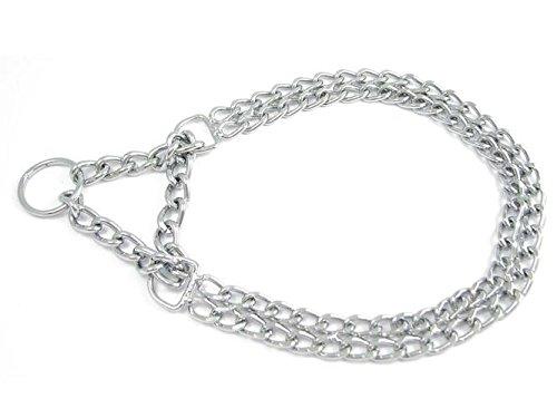 Halskette mit 2 Reihen und Zugstopp für Hunde - Dressurhalsband - Allen Längen und Stärken