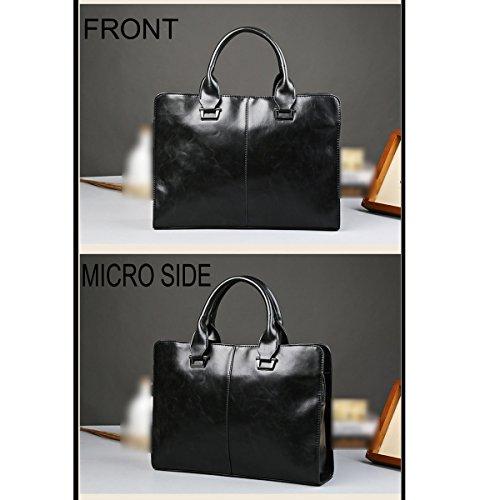 Neu Mode Reisen Männer Geschäft Konferenz Freizeit Retro Einfach Flut Aktentaschen Herrentaschen Handtaschen Tasche Black