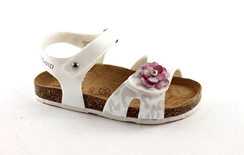 GRUNLAND DEHA SB0451 25/30 bianco sandalo bambina strappi fiore 30