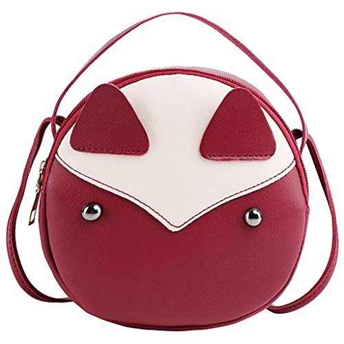 Andouy Shoulders Small Backpack Letter Purse Fashion Lady Mobile Phone Messenger Bag(Red) Mega-mobile