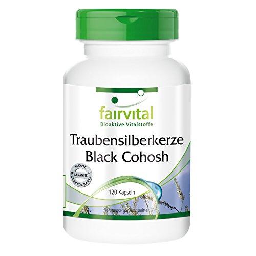 Traubensilberkerze, Black Cohosh, 500mg, vegan, natürlich, hochdosiert, 120 Kapseln, sojafrei, 2-Monatspackung