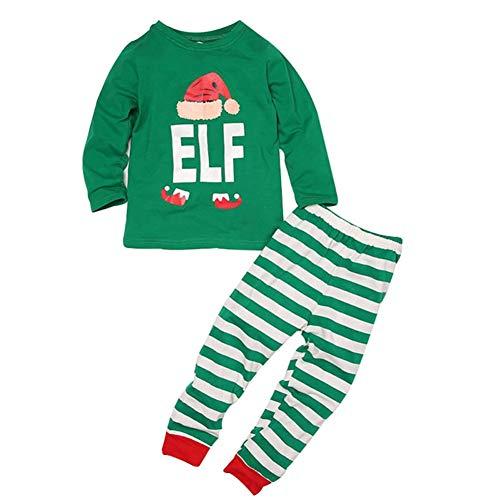 Papa Mama Kids Stripped Hose Set Familie passende Weihnachten Schlafanzüge Nachtwäsche 3-8 Jahre -