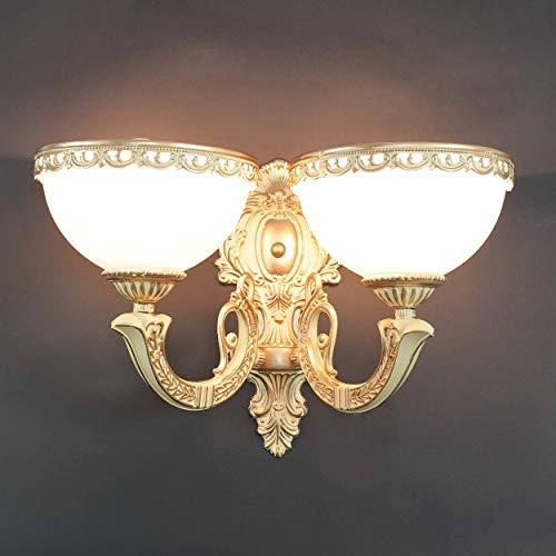 2-flammige Wandleuchte im shabby chic Stil mit 2xE27 Fassung bis 60 Watt Wandlampe Innen Landhaus