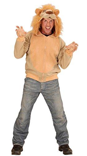 öwe-n Kostüm Herren Erwachsene Löwe-Jacke Karneval Tier-Kostüm Herren-Kostüm Einheitsgröße ()