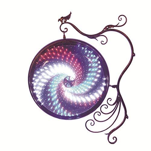 Retro Impermeable Peluquería Gire A La Luz Salón De Pelo Lámpara De Pared Caja De Salón De Salón Logo Luz 79 * 63 Cm,79 * 63CM,B