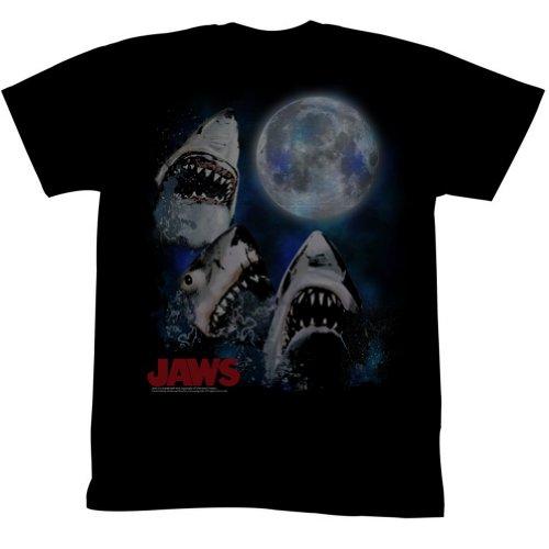 Jaws - Männer Drei Shark Mond-T-Shirt As Shown