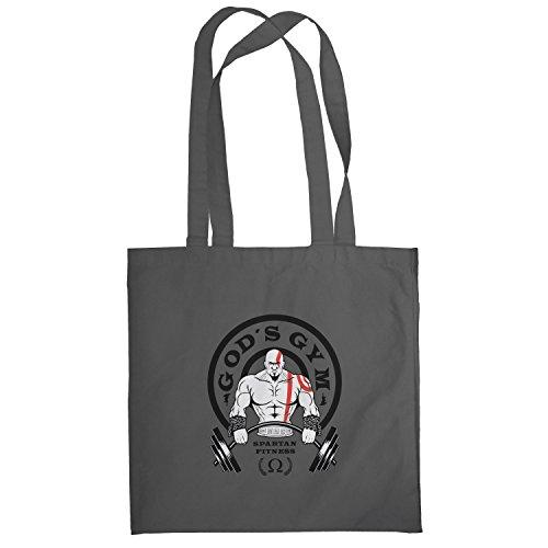 Texlab–GOD S GYM Spartan Fitness–sacchetto di stoffa Grau