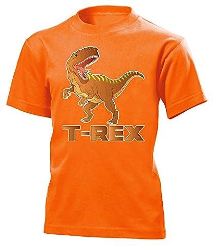 DINOSAURIER - T-REX 5192(K-ORA) Gr.128 (Orange Triceratops Kostüm)