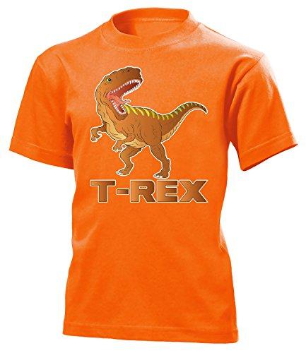 Shirt (K-Ora) Gr.140 (Orange Triceratops Kostüm)
