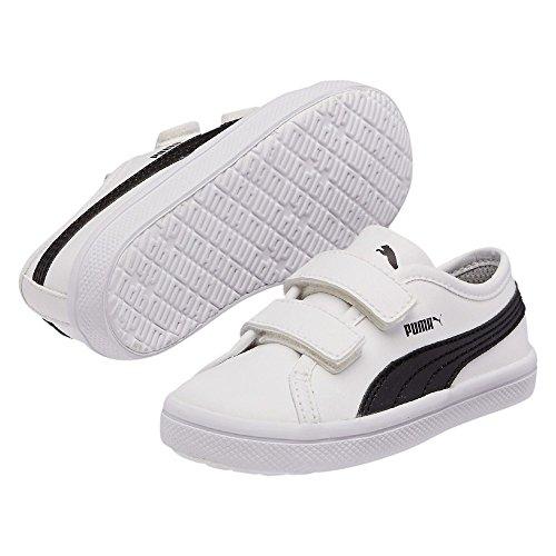 Puma - Elsu Sl F V Kids, Sneaker a collo basso Unisex – Bambini White
